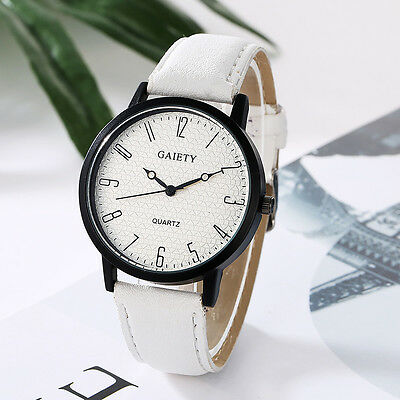 Women Leather Band Watches Fashion Casual Simple  Analog Quartz Wrist Watches
