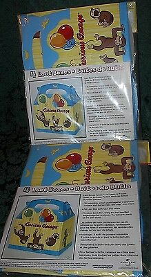 Curious George 8 Loot Boxes-New-2 Packs Of 4-Birthday Idea