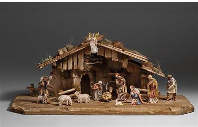 """15 Piece Kostner Nativity Scene by PEMA Woodcarvings - 5"""" Series Wooden Pieces"""