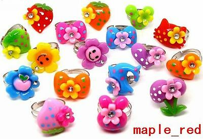 Wholesale jewelry 50 pcs Mixed Lovely Resin Children's Rings RG45