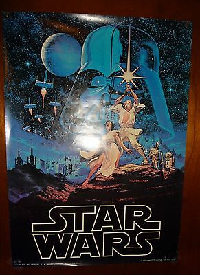 original 1977 STAR WARS wall poster 28x20 hildebrandt art