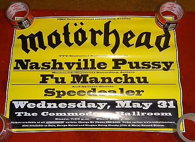 concert poster MOTORHEAD NASHVILLE PUSSY vancouver canada  may 2000 17x23