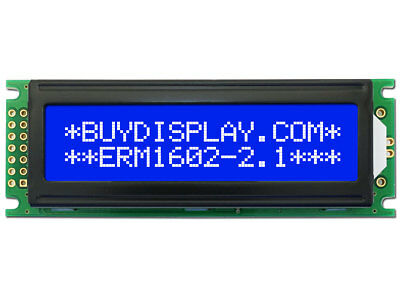 5V Blue 16x2 LCD Module Character Display w/Tutorial,HD44780,Bezel,Backlight