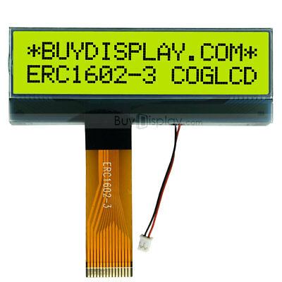 Slim 16x2 COG Character LCD Module w/Tutorial,FPC Connection,Connector,NT7603