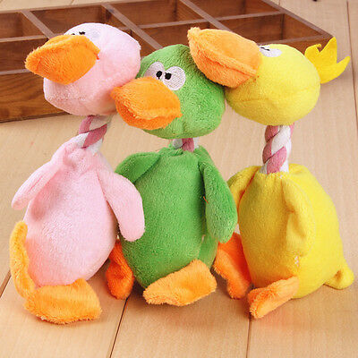 Funny Pet Dog Puppy Cat Chew Squeaker Squeaky Plush Sound Bird Play Fun Toy New