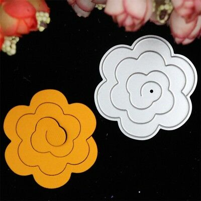 Flower Metal Cutting Dies Stencil Scrapbook DIY Paper Cards Craft Die-Cut Decor