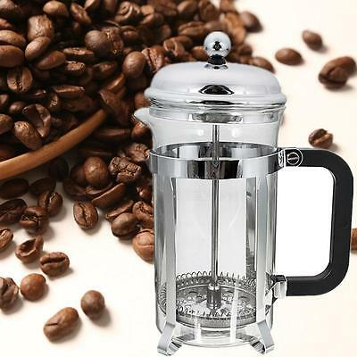 600ML French Press Coffee Plunger Maker Leaf Carafe Stainless Steel Filter Bodum