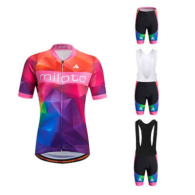 Women's Cycle Jersey Pants Short Set Ladies Road Bike Clothing Cycling Kit S-5XL