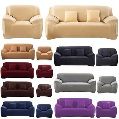 Stretch Slipcover, Chair, Love Seat, Sofa Futon, Recliner, Pillow Cover Case New