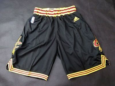 Cleveland Cavs Basketball Shorts NBA Pants Men's NWT Stitched Black / White