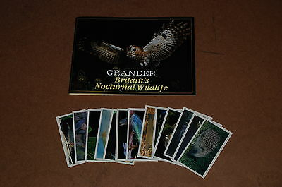 Grandee Britains Nocturnal Wildlife  FULL SET of Cigarette Cards with Book
