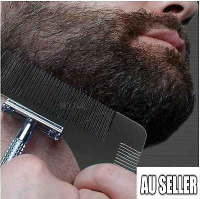 New Stainless Steel Mens Beard Comb Hair Comb Beard Shaping Shaving Tool Comb