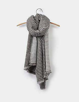 Joules Checkley Jacquard Scarf in Soft Grey in One Size
