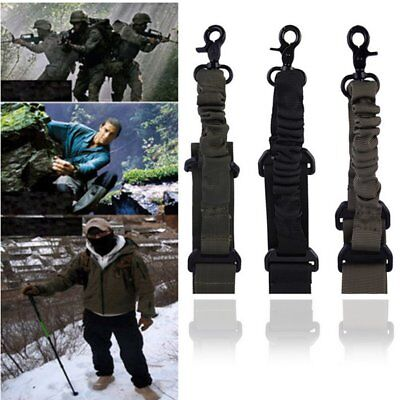 Adjustable Hunting 1 One Point Rifle Sling Bungee Tactical Shotgun StrapSyste UU