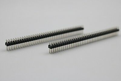 20Pcs Double Row 2x40P Male Straight Pitch 2.54mm Pin Header Connector New