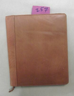 A4 Tan leather folder  (style 257)