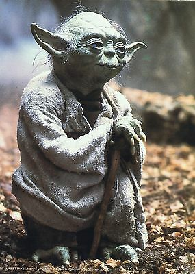 FRANK OZ   -  STAR WARS  Yoda   Hand Signed with Colour Photo and Business Card