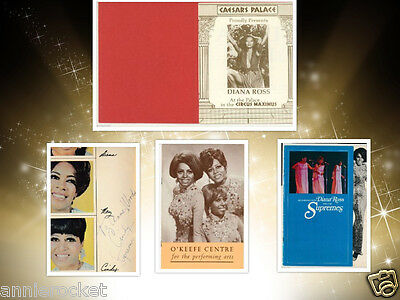 An Evening With Diana Ross&The Supremes Program 1968-69-Caesars Palace Card-1973