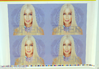 "Cher- ""The Very Best of Cher"" Printer's Artwork Cover Proof-20"" x 26""-NM-2003"