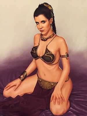 Carrie Fisher 8 X 10 Color Photo Princess Leia Slave Outfit