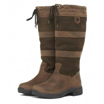 Dublin River Boots Size 6 - Chocolate WIDE FIT