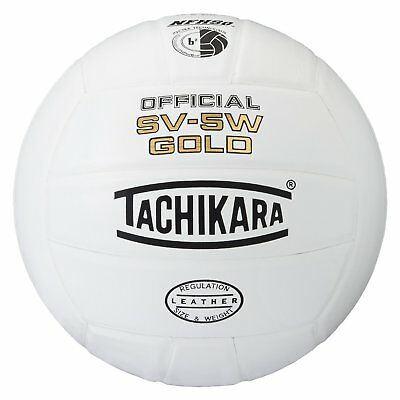 Tachikara SV5W Gold Competition  Leather Volleyball White