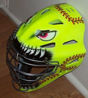 Fastpitch Youth Catchers Helmet Mean Softball New