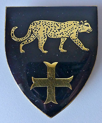 SOUTH AFRICA ARMY DE MIST COMMANDO type 2 SMALL CROSS & LEOPARD RIGHT ARM BADGE
