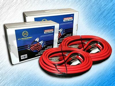 2 Gauge 20 Foot Booster/jumper Battery Cables - Package Of 2