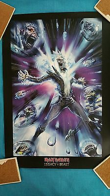 """Iron  Maiden        """"legacy  Of  The  Beast""""       Limited Edition  Lithograph"""