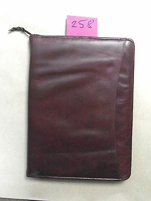 A4 brown leather folder  (style 258)