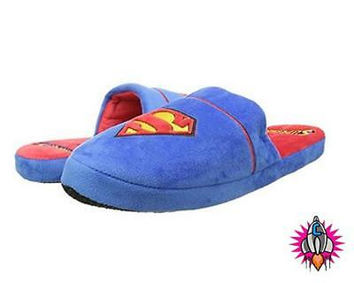 New Official Dc Comics Superman Mens Mule Slippers Size 8-10