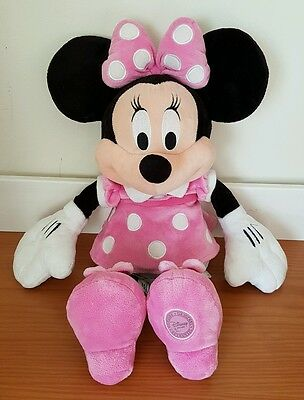 Disney Store Exclusive Minnie Mouse Soft Plush Beanie Toy 18""