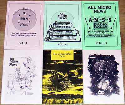 1st 6 All Micro News, rare and near mint condition vintage computer magazines