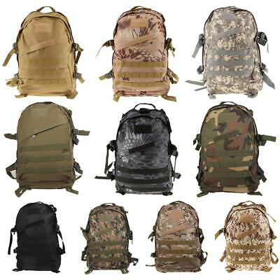 40L 3D Vintage Tactical Backpack Hiking Camping School Casual Backpack Camo Bag