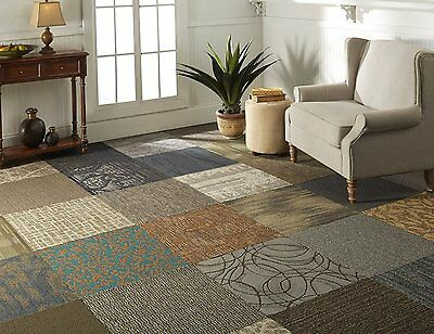 Peel and Stick Assorted Commercial Carpet Tile - 2 ft. x 2 ft. (10 Tiles/Case)