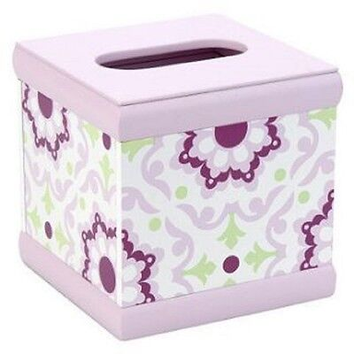Wendy Bellissimo Wood Tissue Box Pink Raspberry Medallion Any Room Or Age Square