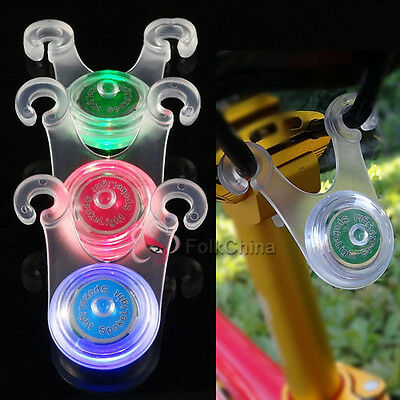 Bike Cycling Bicycle LED Silicone Rear Tail Back Clip Light Hanging Saddle Lamp