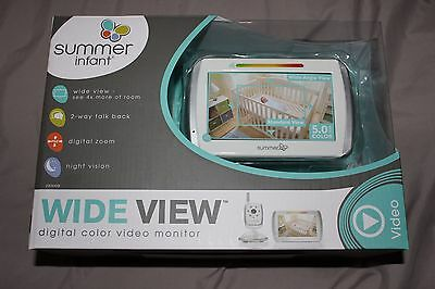 """Summer Infant 5"""" Wide View Digital Color Video Baby Monitor 29000B BRAND NEW"""