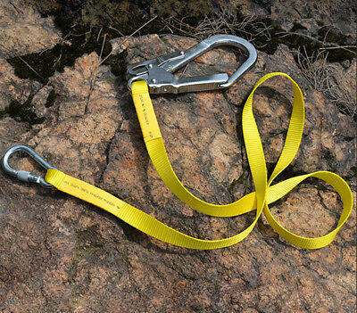 Outdoor Climbing Safety Harness Belt Protection Lanyard with Carabiner Hook