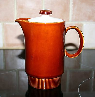 Vintage Poole Pottery Chestnut Hot Water Jug