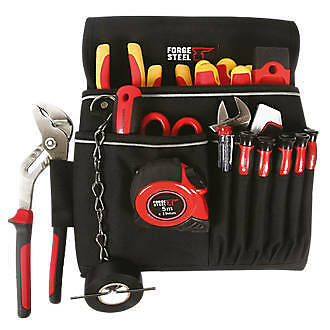 New Forge Steel Electricians Builders Work Pouch Storage Tool Holder No Tools