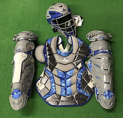 All Star System 7 Adult Camo Catcher's Gear Set - Graphite Royal - CKPRO1DC