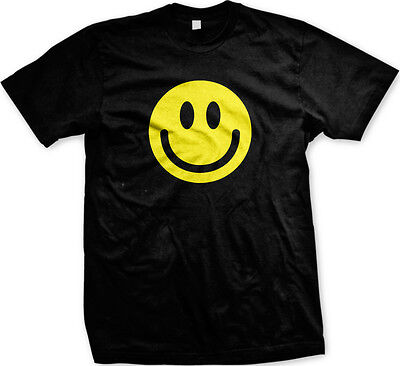 Happy Smiley Face - Cute Happy Smile Grin Smirk Mens T-shirt