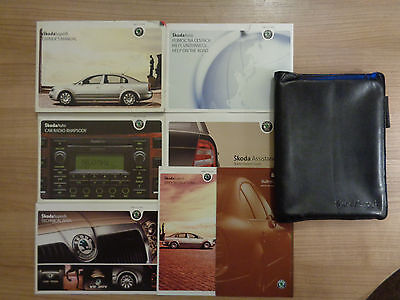 Skoda Superb Owners Handbook/Manual and Wallet 01-08