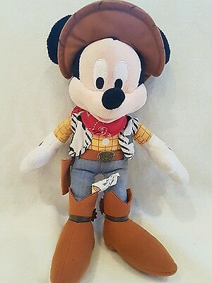 """DISNEY EXCLUSIVE! COWBOY MICKEY MOUSE Soft/Plush Toy 12"""""""