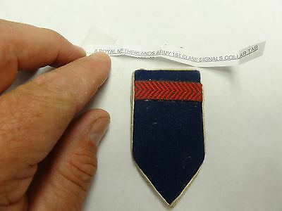 Genuine Military Vintage Badge Crest Insignia Royal Netherlands 1St Class Signal