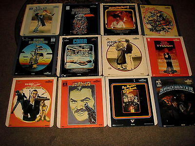 Collection Of 90 Rare Ced Videodiscs Films Music Plus Free M/c V5000H + Vd Stuck