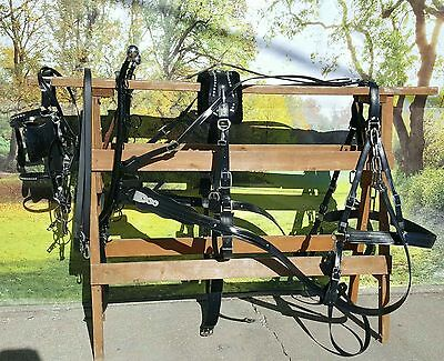 Frontier Special Amish made beta draft horse size harness NEW COMPLETE