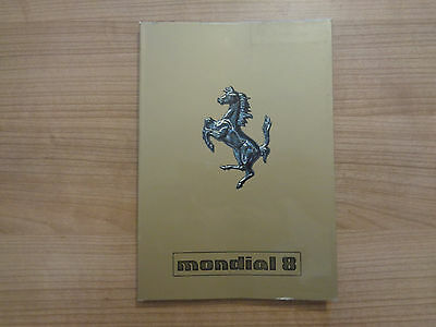 Ferrari Mondial 8 Owners Handbook/Manual